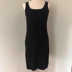 Vintage Black Knit Tank Dress